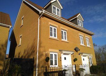 Thumbnail 4 bed semi-detached house for sale in Company Farm Drive, Llanfoist, Abergavenny