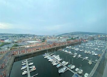 Thumbnail 1 bed flat for sale in Meridian Tower, Marina, Swansea