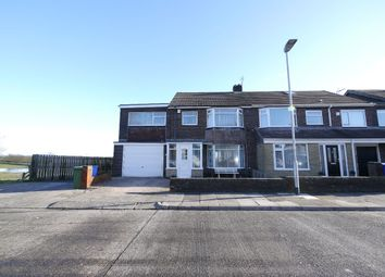 Thumbnail 4 bed semi-detached house for sale in Conway Grove, Seaton Sluice, Whitley Bay