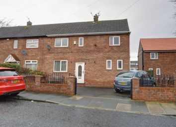Thumbnail 3 bed semi-detached house for sale in Haughton Crescent, West Denton, Newcastle Upon Tyne