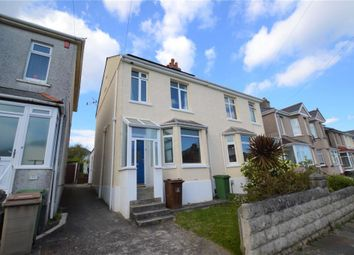 Thumbnail 3 bed semi-detached house to rent in North Down Road, Plymouth, Devon