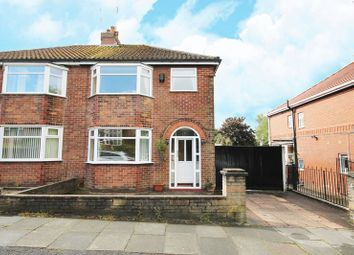 Thumbnail 3 bed semi-detached house to rent in Rutland Avenue, Manchester, Greater Manchester.