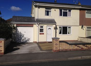 Thumbnail 3 bed semi-detached house to rent in Meadow Avenue, Kenfig Hill, Bridgend
