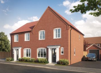 Thumbnail 3 bed semi-detached house for sale in Woodpecker Avenue, Holt