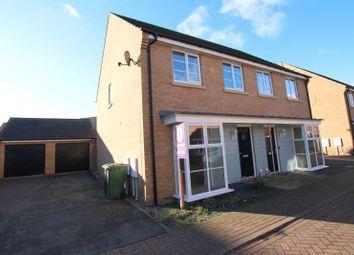 Thumbnail 3 bedroom semi-detached house to rent in Stonewort Avenue, Hampton Vale, Peterborough