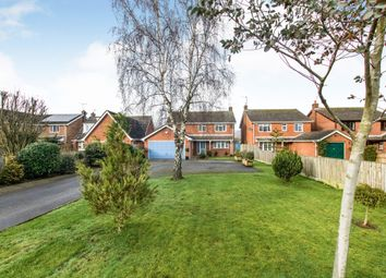 Thumbnail 4 bed detached house for sale in Station Road, Langworth, Lincoln