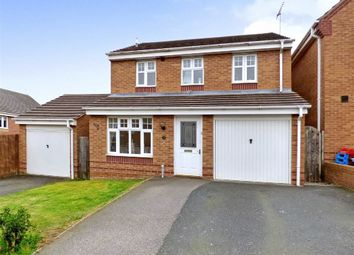 Thumbnail 3 bed detached house to rent in Horseshoe Drive, Cannock, Staffordshire