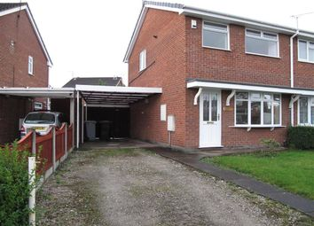 Thumbnail 3 bed semi-detached house to rent in Lansdowne Road, Crewe