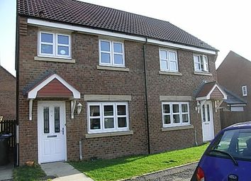 Thumbnail 2 bed semi-detached house for sale in Ladyburn Way, Hadston, Morpeth, Northumberland