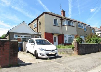 Thumbnail 4 bedroom semi-detached house for sale in Dyfrig Road, Cardiff