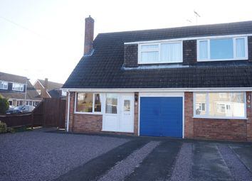 Thumbnail 3 bed semi-detached house for sale in Caryer Close, Orton Longueville, Peterborough