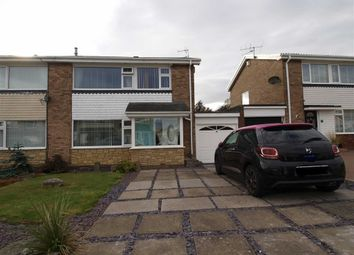 Thumbnail 3 bed semi-detached house for sale in Megstone Avenue, Cramlington