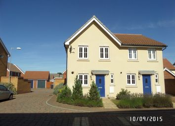 Thumbnail 2 bed semi-detached house to rent in Heron Road, Costessey, Norwich