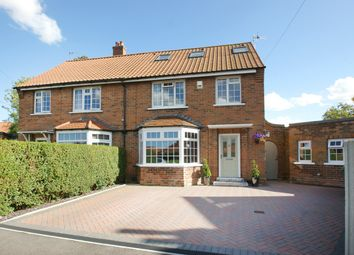 Thumbnail 4 bedroom semi-detached house for sale in The Crescent, Stamford Bridge, York