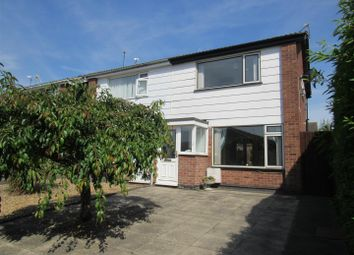 Thumbnail 3 bed semi-detached house for sale in Foxglove Close, East Goscote, Leicester