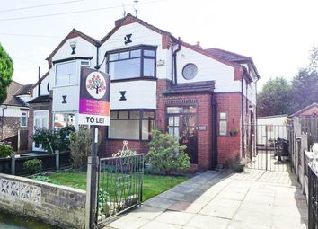 Thumbnail 3 bed semi-detached house to rent in Windsor Road Prestwich, Manchester, Greater Manchester