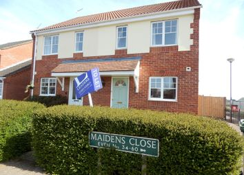 Thumbnail 2 bedroom semi-detached house to rent in Maidens Close, Thorpe St. Andrew, Norwich