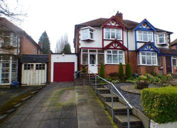 Thumbnail 3 bedroom semi-detached house for sale in Shenley Fields Road, Northfield, Birmingham