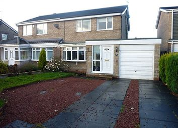 Thumbnail 3 bed semi-detached house for sale in Denham Drive, Seaton Delaval, Tyne & Wear