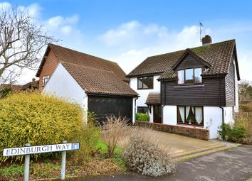 Thumbnail 4 bed detached house for sale in Edinburgh Way, East Grinstead