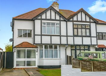 Thumbnail 3 bed semi-detached house for sale in Beverley Gardens, Southend-On-Sea, Essex