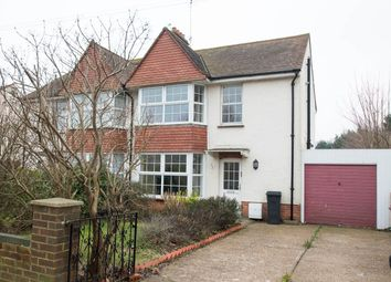 Thumbnail 3 bed semi-detached house for sale in North Avenue, Eastbourne
