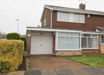 Thumbnail 3 bed semi-detached house for sale in Highburn, Cramlington