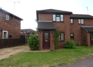 Thumbnail 2 bed semi-detached house to rent in Deerfield Close, Badgers, Buckingham