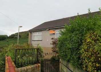 Thumbnail 1 bedroom semi-detached bungalow to rent in Bryn Bedw -, Porth