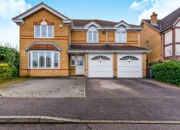 Thumbnail 5 bed detached house for sale in Aldwell Close, Wootton, Northampton