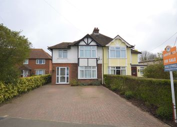Thumbnail 3 bed semi-detached house for sale in Canterbury Road, Hawkinge, Folkestone