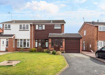 Thumbnail 3 bed semi-detached house for sale in Bridgewater Close, Penkridge, Stafford