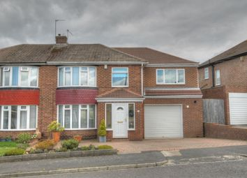 Thumbnail 4 bed semi-detached house for sale in Langdon Road, Hillheads Estate, Newcastle Upon Tyne