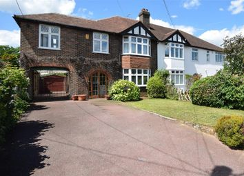 Thumbnail 4 bed semi-detached house for sale in Rectory Lane South, Leybourne, Kent