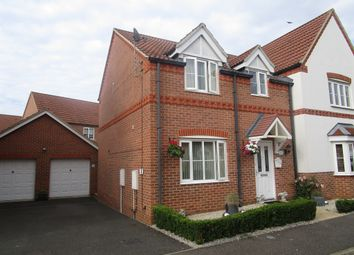 Thumbnail 3 bedroom semi-detached house for sale in Benstead Close, Heacham, King's Lynn