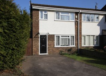 Thumbnail 3 bedroom end terrace house for sale in Swift Close, Royston