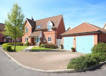 Thumbnail 3 bedroom detached house for sale in Shrubbery Close, Hessett, Bury St. Edmunds