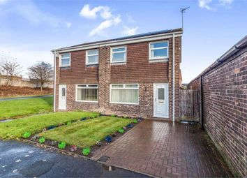 Thumbnail 3 bedroom semi-detached house for sale in Bamborough Court, Dudley, Cramlington, Tyne And Wear