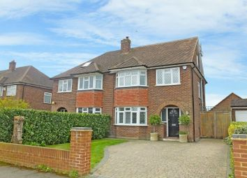 Thumbnail 4 bed semi-detached house for sale in Selbourne Avenue, New Haw, Addlestone