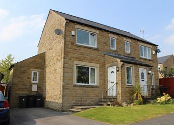 Thumbnail 3 bed semi-detached house for sale in Highoak Garth, Oakworth, West Yorkshire
