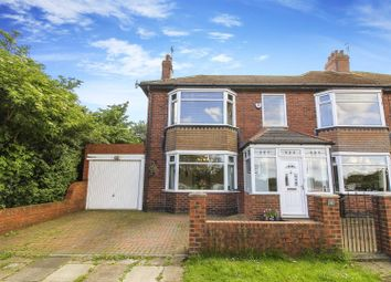 Thumbnail 4 bed semi-detached house for sale in Hartley Avenue, Monkseaton, Whitley Bay