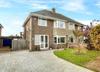 Thumbnail 3 bed semi-detached house for sale in Alinora Avenue, Goring By Sea, West Sussex