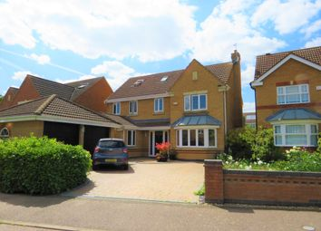 Thumbnail 6 bed detached house for sale in Hall Close, Old Stratford, Milton Keynes