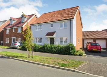 Thumbnail 4 bed detached house for sale in Goldfinch Drive, Attleborough
