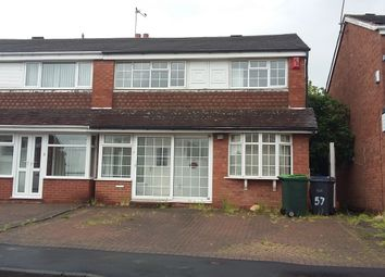 Thumbnail 3 bedroom semi-detached house to rent in Templemore Drive, Great Barr