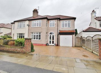 Thumbnail 5 bed semi-detached house for sale in Moorcroft Road, Calderstones, Liverpool
