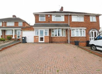 Thumbnail 3 bed semi-detached house for sale in Woodcroft Avenue, Handsworth Wood, West Midlands