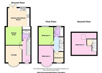 Thumbnail 4 bedroom semi-detached house to rent in Grangemouth Road, Coventry