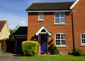 Thumbnail 3 bed semi-detached house for sale in Nightingale Close, Stowmarket