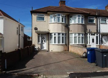 Thumbnail 3 bed end terrace house to rent in Windermere Road, Southall, Middlesex